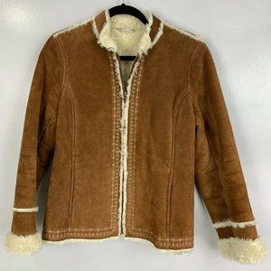 Y2K Vintage Penny Lane Leather Faux Sherpa Lined